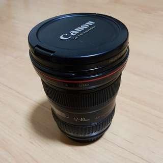 Canon EF lens 17-40mm F/4 USM