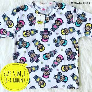 Kaos Anak Full Motif (Last Pieces)