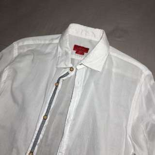 Zara white beach polo