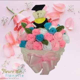 Basket Flower Bunga Flanel