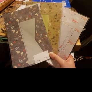 信封套裝 letter sets 三個一套出 不拆賣