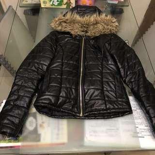 Black feather jacket