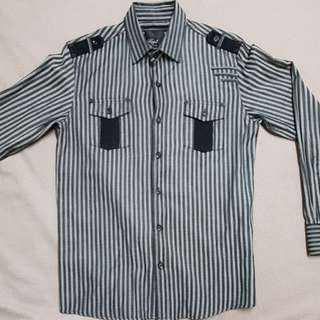 Stripped Long sleeves polo