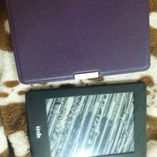 Amazon kindle paperwhite with case
