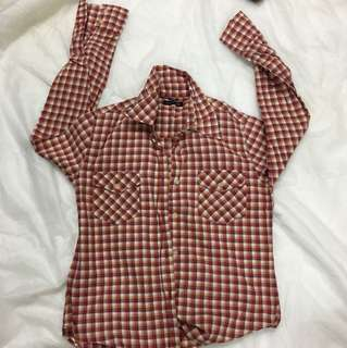 Red white flannel shirts
