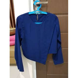 asymetric navy top