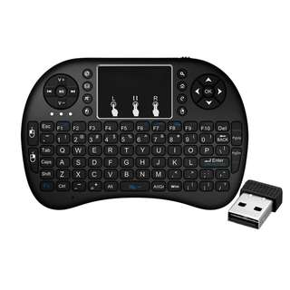 Wireless Keyboard,EASYTONE 2.4G Mini Wireless Keyboard Touchpad Mouse Combo and Multimedia Keys,Portable Handheld Gaming Keyboard Remote Controller for Google TV Boxes,Smart TV,Mini PC, Laptop,HTPC,PAD ect.