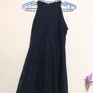 無袖蕾絲洋裝