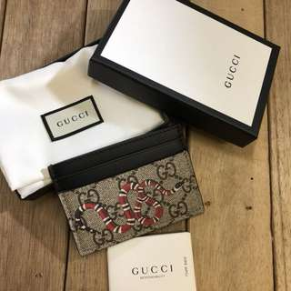 Gucci gg supreme Snake card holder
