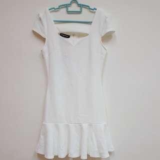 Something Borrowed Fluted Hem Dress (BNWT)
