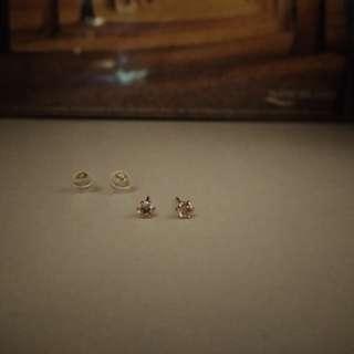 18k黃金20份鑽石耳環 diamond earrings