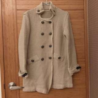 🚚 雙排釦毛衣外套