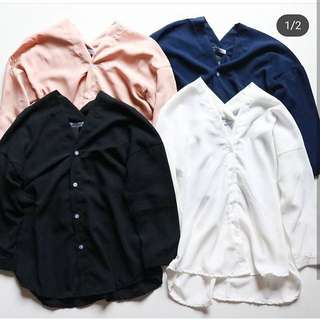 New - Zara V Plain Shirt