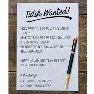 Tutor Wanted