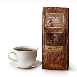 🇨🇦GODIVA Hazelnut Creme Coffee, Ground, 10 oz.