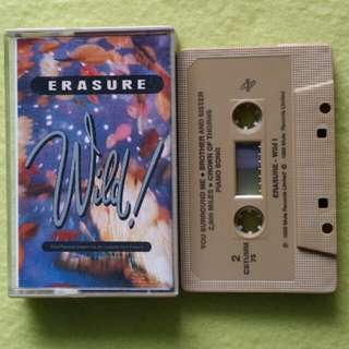 ERASURE. wild !. Cassette tape not vinyl record