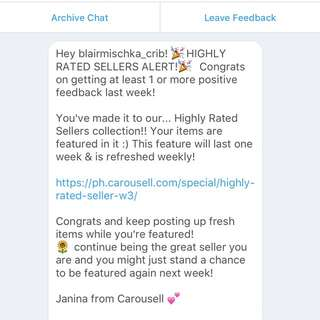 Thank you, Carousell!!! ;)