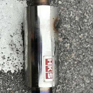 HKS Trumpet muffler exhaust