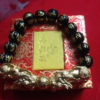 bracelet wiyh gold plated
