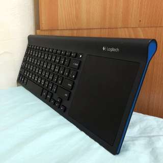 (極新)羅技 TK820 無線鍵盤、觸控板 All-in-One 知性藍色邊框