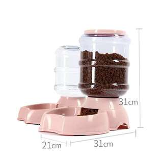 Auto self feeding  food & water bowl, for cats / dogs