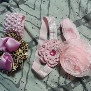 Baby headbands and socks