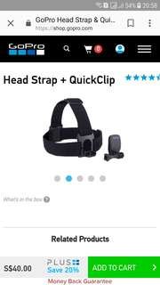 GoPro Head Strap plus Quick Clip