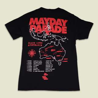 Mayday Parade Black Lines tour shirt