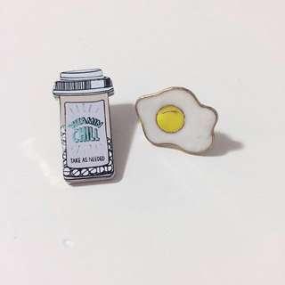 Egg + Pills Pins