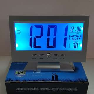 Voice Control Back-Light LCD Clock