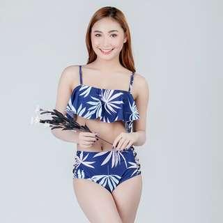 Two Piece Highwaist Swimwear Floral Design