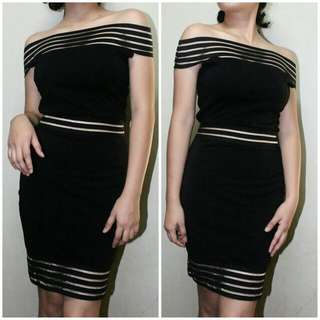 Formal Cut Body Hugging Fitted  Dress Perfect For Corporate Events, Wedding, Gala, Graduation Etc.