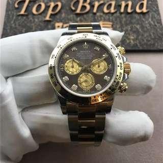 Rolex 勞力士 迪通拿 间金 黑贝母盘 116503