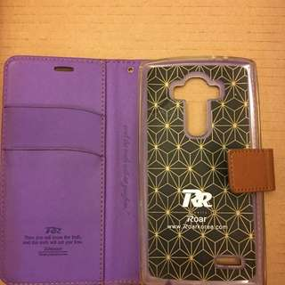 LG G4 purple flip cover