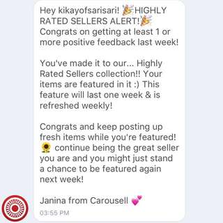 18!! Thank you Carousell!!