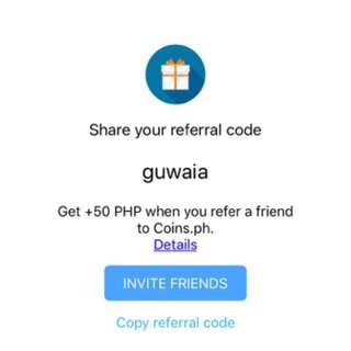 Get 50 pesos upon using my referral code