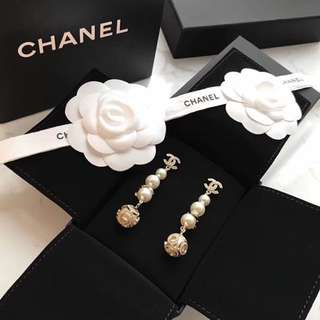 Coco Chanel pearl earrings