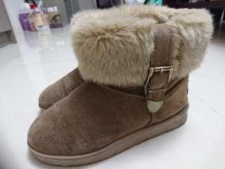 【絨毛短靴】冬季出門不怕下雨暖呼呼雪靴
