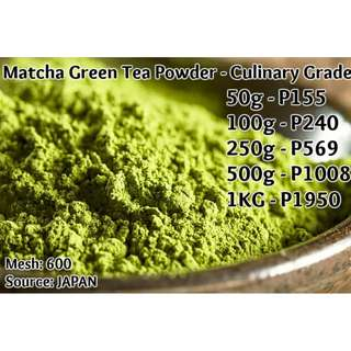 Matcha Green Tea Powder - Culinary Grade