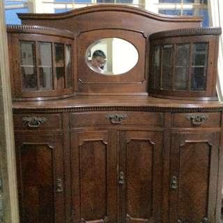 Buffet, lemari, tempat tidur kursi jati tua usia 100 tahun