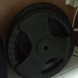 2 x 15 kg Trip grip weights plate