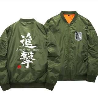 Attack on titan casual jacket s-xxl