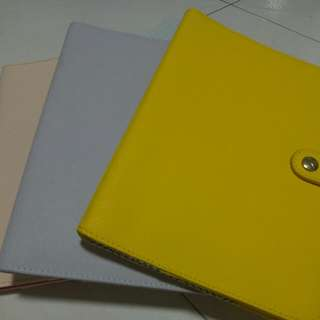 Kikki K A5 Refillable Leather Notebook Cover (Sunshine Yellow)