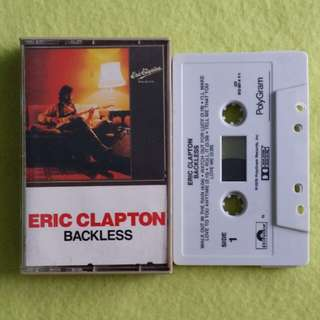 ERIC CLAPTON. backless. Cassette tape not vinyl record