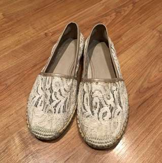 Charles and Keith Lace Espadrilles