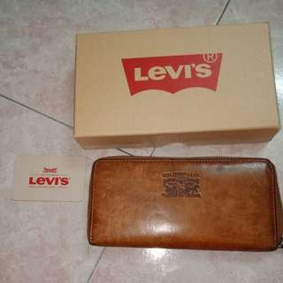 Levi's Full Grained Leather Long Wallet