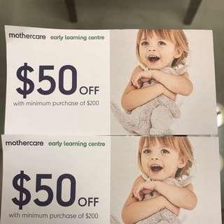 Mothercare Voucher $50 Off $200 Min Spend