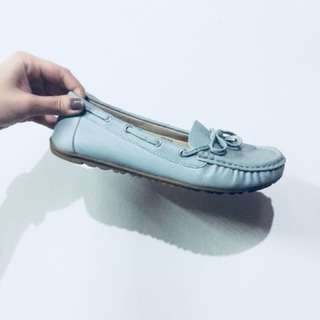 Light blue doll shoes