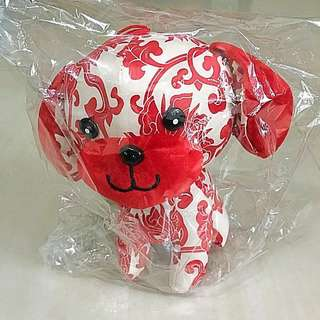 Year of Dog CNY plush, orange carrier & red packet