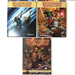 Dungeons & Dragons Dark Sun, Shadow Plaque & Down (Publisher: IDW) - 3 book graphic novel set